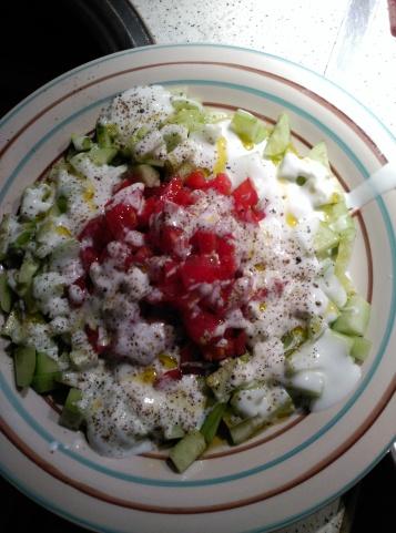 Ensalada de pepino, tomate y yogur de cabra.jpg